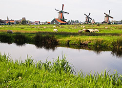 Pastoral town in the Netherlands.